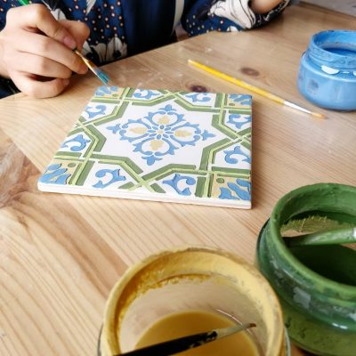 Tile painting workshop